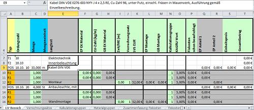 Kostenloses Excel Tool Selbstkostenkalkulation
