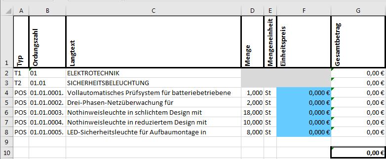Muster Leistungsverzeichnis Pdf Kostenfreier Download