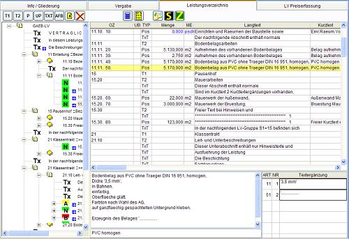 Gaeb Ava Einfach Preiswert Leistungsverzeichnisse Erstellen